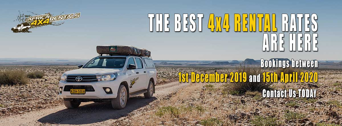 Special 4x4 Rental Rates Namibia